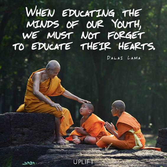 Dalai Lama Educate Children Hearts