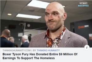 Boxer Donates