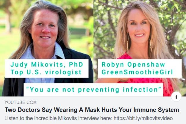 Masks hurt immune