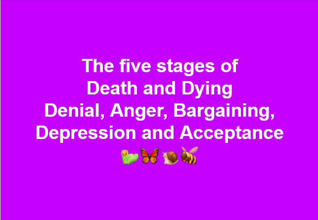 Stages of dying