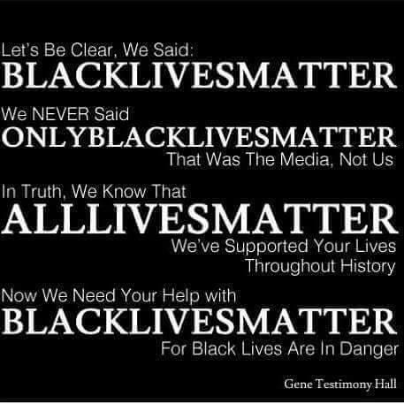 Black Lives Matter All
