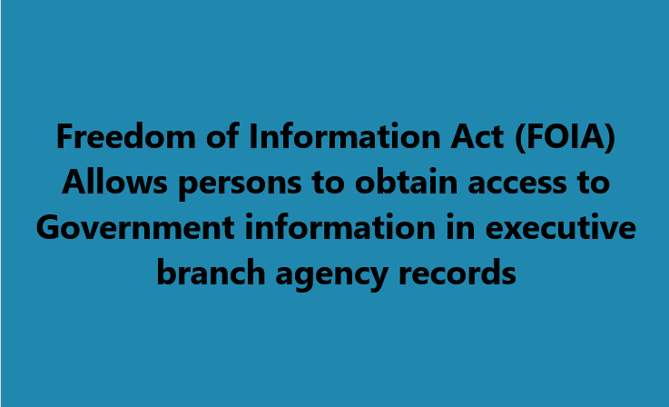 Freedom Information Act