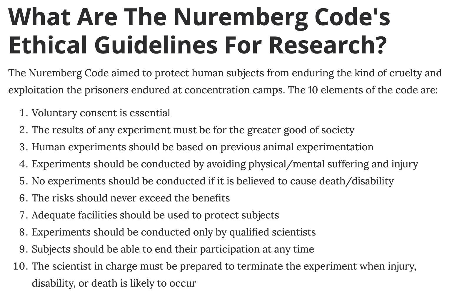 Nuremberg Guidelines